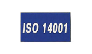Blue ISO 14001 Flag made of Nylon