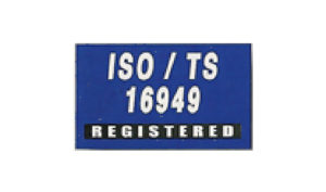 Blue ISO/TS 16949 Flag made of Nylon
