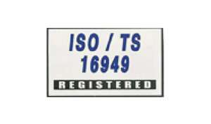 White ISO/TS 16949 Flag made of Nylon