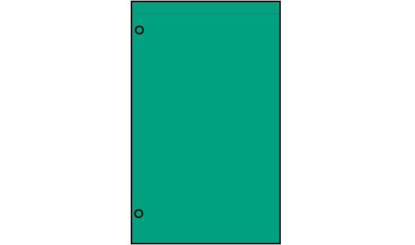 Nylon Solid Color Vertical Banners (Top Only Hem)