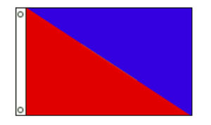 Nylon Diagonal 2-Stripe Flags
