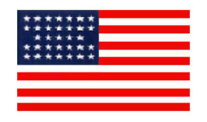 United States Historical Evolution of Old Glory Flag 33 Stars