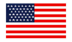 United States Historical Evolution of Old Glory Flag 43 Stars