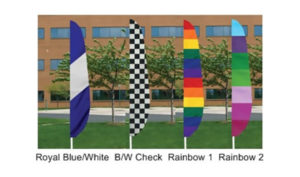 Multi Color Feather Flags
