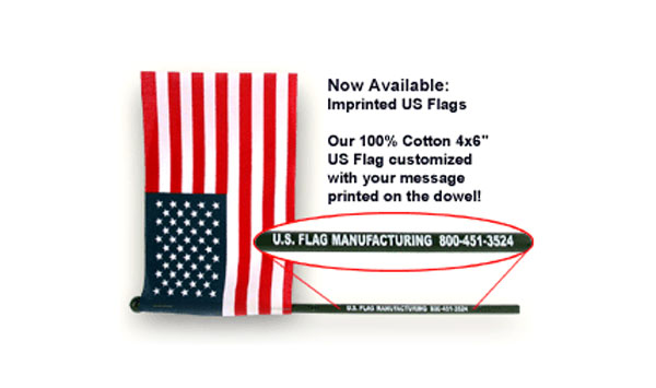 Custom Imprinted U.S. Flags