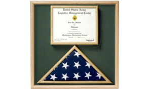 Ceremonial Flag and Document Display Case - Solid Oak