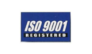 Blue ISO 9001 Flag made of Nylon