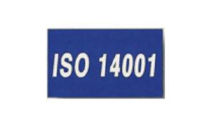 Blue ISO 14001 Flag made of Nylon