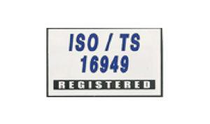 White ISO/TS 16949 Flag made of Nylon