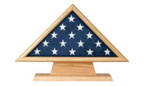 Flag Case Triangle on Pedestal