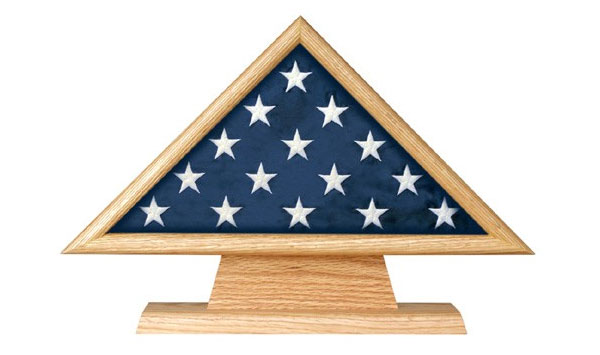 Flag Case Triangle on Pedestal