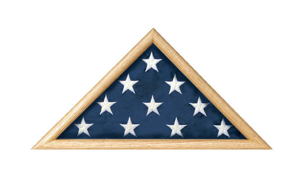 Oak Military Burial Flag Case Triangle