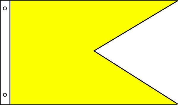 Nylon Solid Color Horizontal Burgees