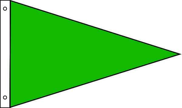 Nylon Solid Color Pennants