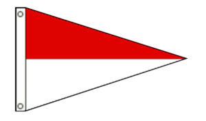 Nylon Pennant 2-Stripe
