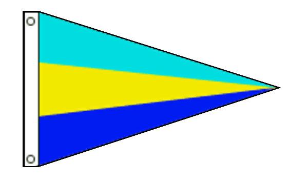 Nylon Pennant 3-Stripe