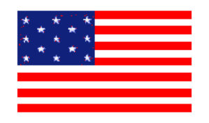 United States Historical Evolution of Old Glory Flag 13 Stars