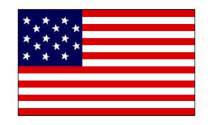United States Historical Evolution of Old Glory Flag 15 Stars/ Star Spangled Banner