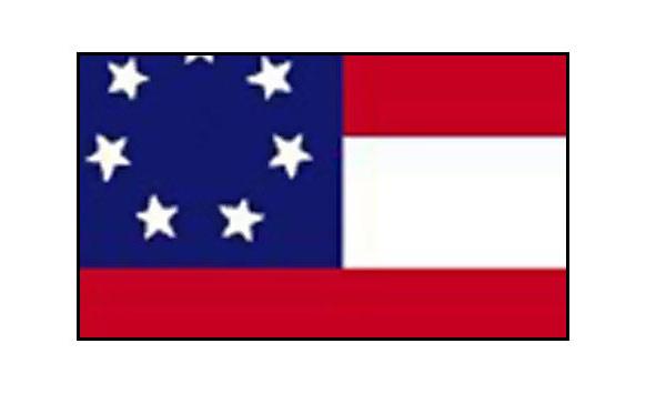United States Historical Flag Stars and Bars