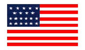 United States Historical Evolution of Old Glory Flag 23 Stars