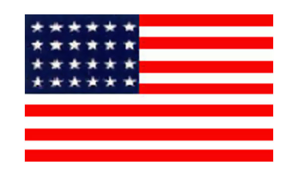 United States Historical Evolution of Old Glory Flag 24 Stars
