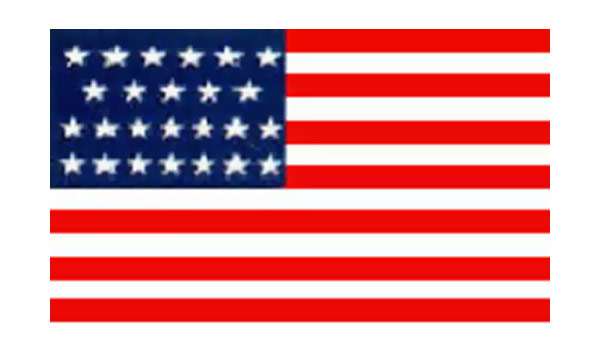 United States Historical Evolution of Old Glory Flag 25 Stars