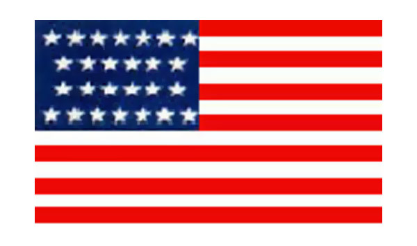 United States Historical Evolution of Old Glory Flag 26 Stars