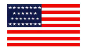 United States Historical Evolution of Old Glory Flag 29 Stars