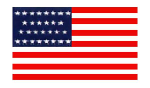 United States Historical Evolution of Old Glory Flag 29 Stars