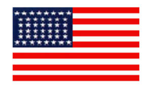 United States Historical Evolution of Old Glory Flag 44 Stars