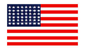 United States Historical Evolution of Old Glory Flag 48 Stars