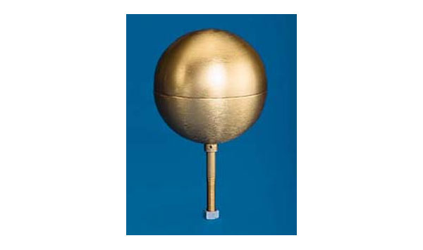 Gold Anodized Aluminum Ball Top Ornaments