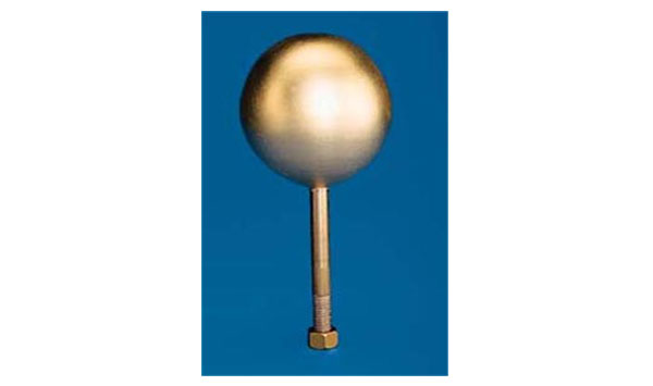 Gold Leaf Copper Ball Top Flagpole Ornaments
