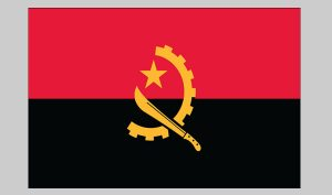 Flag of Angola (Nylon)