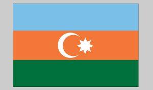 Flag of Azerbaijan (Nylon)