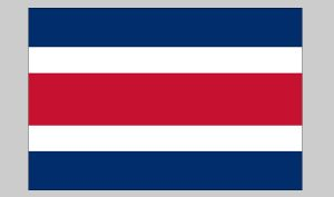 Flag of Costa Rica (no seal) (Nylon)