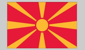 Flag of Macedonia (Nylon)