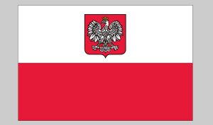 Flag of Poland (eagle) (Nylon)