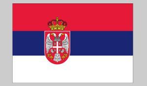 Flag of Serbia (seal) (Nylon)