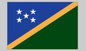 Flag of Solomon Island (Nylon)