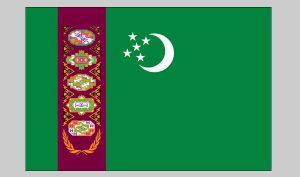 Flag of Turkmenistan (Nylon)