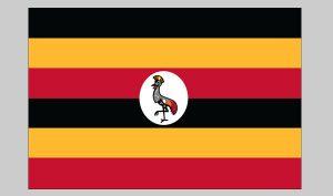Flag of Uganda (Nylon)